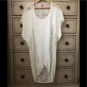 White lace cover up from Victoria's Secret